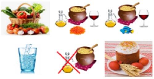 Календар харчування у Великий піст 2021 меню